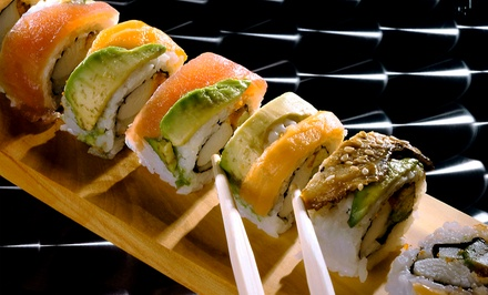 Sushi Meal with Pot Stickers and Hot Sake for Two at Sushi Spott (Up to 51% Off). Three Options Available.