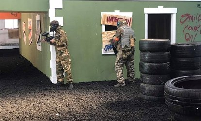 image for Three-Hour Indoor Paintballing with 100 Balls Each for Five or Ten at District 23 Billingham (96% Off)