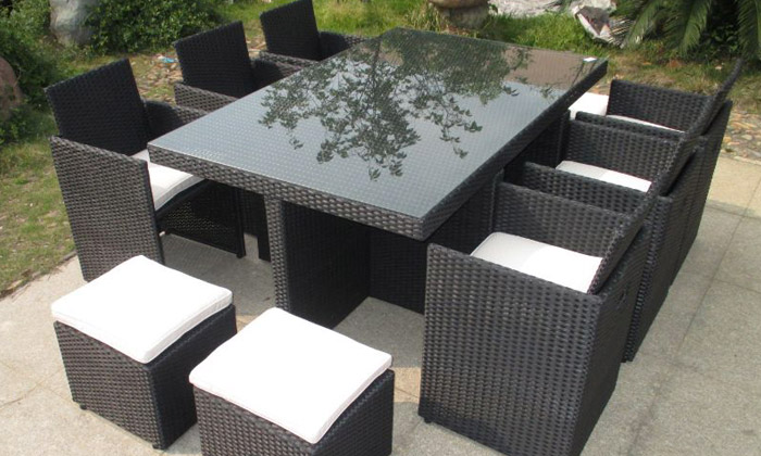salon de jardin encastrable groupon shopping. Black Bedroom Furniture Sets. Home Design Ideas