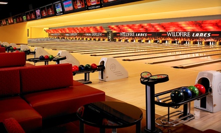 Regular or Cosmic Bowling for Up to Five or a Two-Hour Party Venue Rental at Wildfire Lanes (Up to 70% Off)