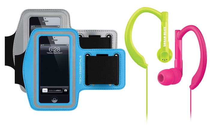Merkury Innovations Sport Earbuds and Matching Armband: Merkury Innovations Sport Earbuds and Matching Armband for iPhone 5/5S/5C or 5th Generation iPod Touch