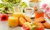 Frühstück und Getränk