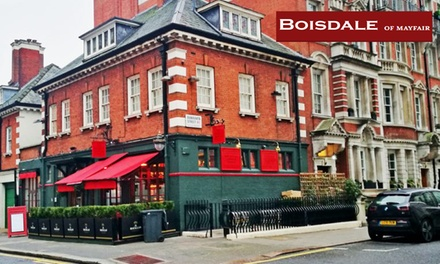 Chateaubriand, Side, Sauces and All-You-Can-Eat Chips with Optional Champagne at Boisdale of Mayfair (Up to 54% Off) (London)