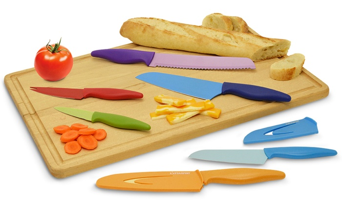 6 Piece Color Coded Knife Set