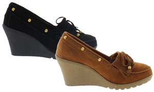 Shoes of Soul Ladies' Moccasin Wedges at Shoes of Soul Ladies' Moccasin Wedges, plus 6.0% Cash Back from Ebates.