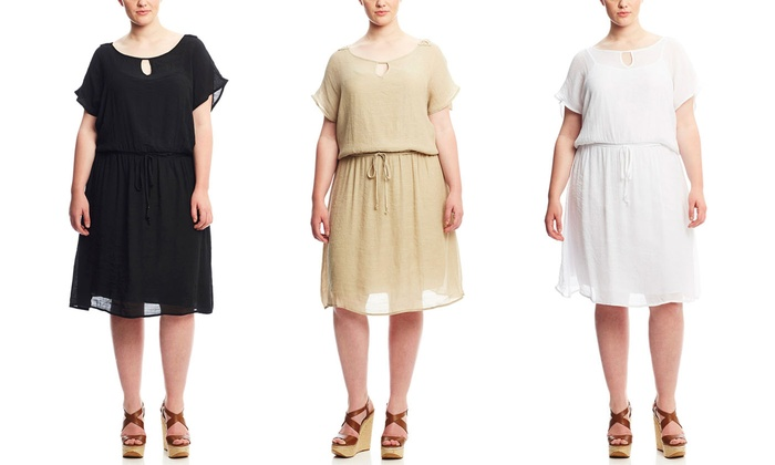 Mlle Gabrielle Womens Plus Size Dress Brought To You By Ideel