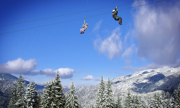 Alpine Adventures - Lincoln: Snowshoe Tour With Option of Skyrider Canopy Tour and BigAirBag Ride at Alpine Adventures (Up to 33% Off)