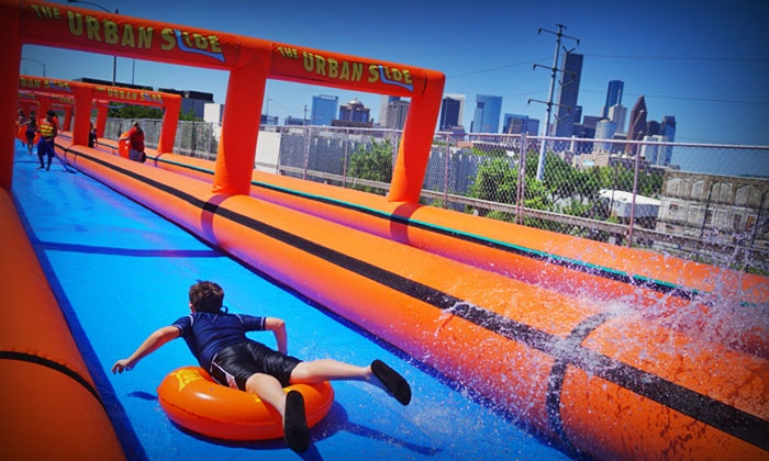 The Urban Slide - Lawrence: Single, Triple, or Unlimited All-Day Slider Admission to The Urban Slide on August 8 or 9 (Up to 60%Off)