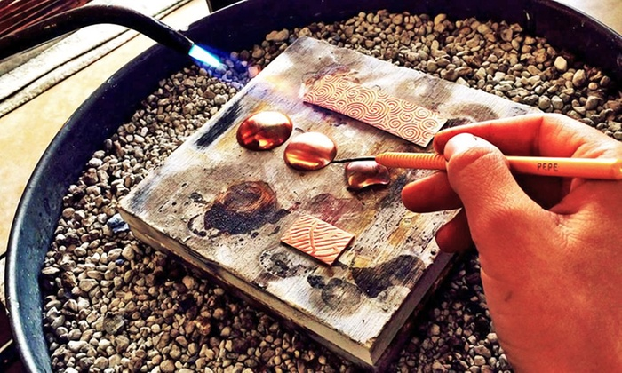 Meltdown Studio - Near North Valley: Introduction to Small Metals Jewelry Class for One or Two at Meltdown Studio (Up to60% Off)