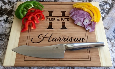 One or Two Personalized Cutting Boards