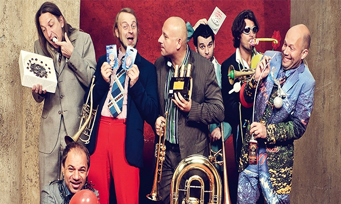 "Mnozil Brass performs 'Yes Yes Yes"" - Multiple Locations: ARTS San Antonio presents Mnozil Brass Performs ""YES YES YES"" at Aztec Theatre on March 5 at 7:30 p.m. (Up to 50% Off)"