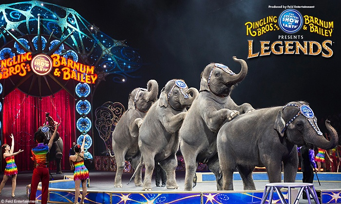 "Ringling Bros. and Barnum & Bailey presents LEGENDS - Quicken Loans Arena: Ringling Bros. and Barnum & Bailey Presents ""Legends"" (Up to 48% Off). Nine Showtimes Available, October 22-26"