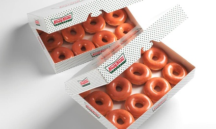 $10 for Two Dozen Original Glazed Doughnuts at Krispy Kreme $17.98 Value). Five Locations Available.