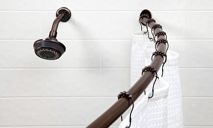 curtain shower bath oval rails stainless chrome extensible tub rod steel ebay bowed rail bn s b curved