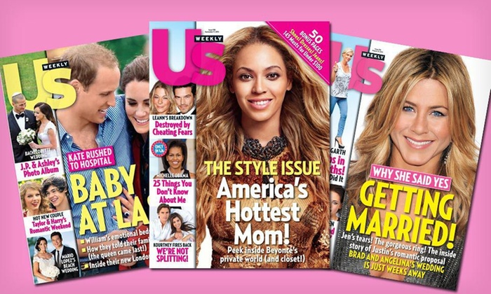 "One-Year Subscription to ""Us Weekly"": $34 for a One-Year, 52-Issue Subscription to ""Us Weekly"" ($69.95 List Price). Free Shipping."