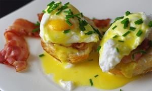 Coastal Blue: Breakfast or Lunch or Dinner for Two with Wine at Coastal Blue (Up to 41% Off)