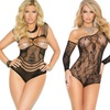 Elegant Moments Fishnet and Lace Teddies