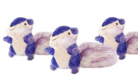 Set of 3 Purple Chipmunk Squeaker Dog Toys