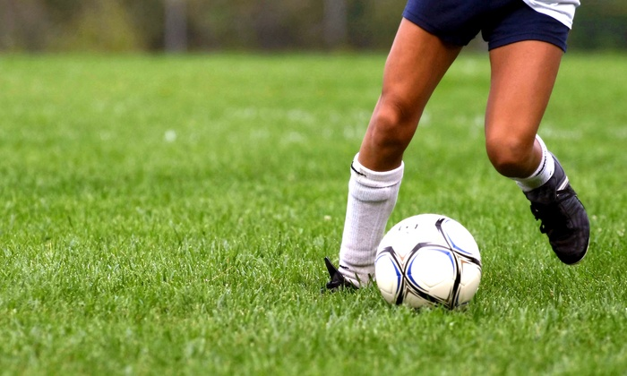 Soccer 5 - Multiple Locations: Week-Long Half- or Full-Day Soccer Camp at Soccer 5 (Up to 50% Off)
