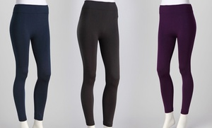 Fleece Lined Leggings (6-Pack): 6 Midnight Black / Regular (M/L)