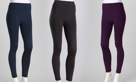 Ezi Fleece-Lined Leggings 6-Pack. Multiple Colors Available.