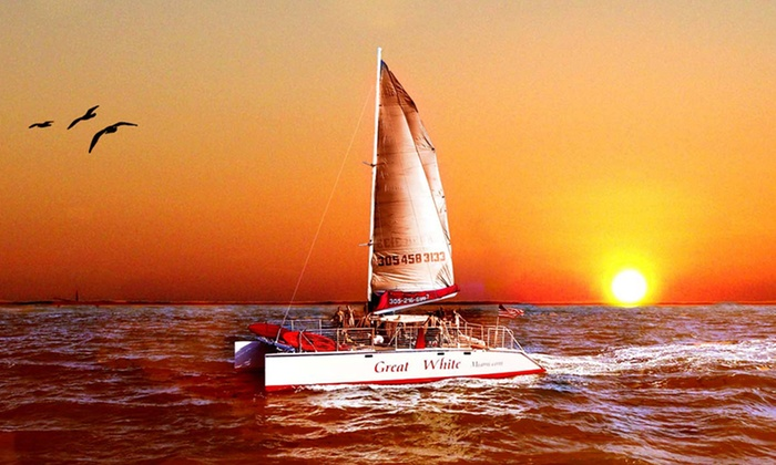 Playtime Watersports - Playtime Watersports: $35for a 2-Hour Twilight or Sunset Cruise with Snacks and Drinks from Playtime Watersports ($75Value)