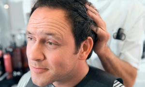 T Hair Salon: Men's Haircare at T Hair Salon (Up to 54% Off). Three Options Available.