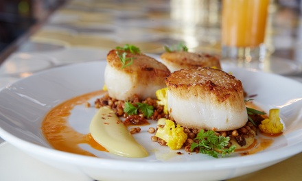 $69 for a Michelin Bib Gourmand Dinner for Two at A10 ($110 Value). Groupon Reservation Required.