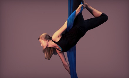 Introductory Aerial-Silks Class and Four Practice Sessions for One or Two at Escalade Rock Climbing Gym (Up to 61% Off)