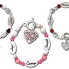 Beaded Bracelets with Engraved Accents and Dedicated Poem