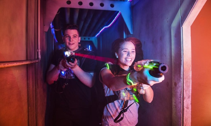 Lost Worlds Laser Tag - Lost Worlds Laser Tag: Laser Tag, Mini Bowling, and Arcade Credits for One, Two, or Four at Lost Worlds Laser Tag (Up to 40% Off)