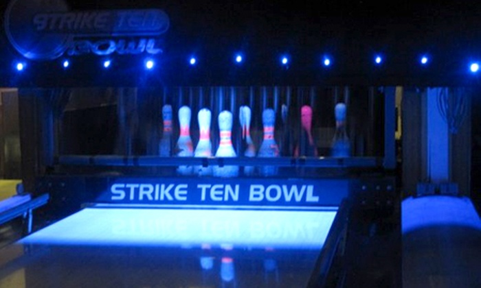 Strike Ten Bowl - Rochdale: Bowling: One (£11) or Two Hours (£20) For Six With Drinks at Strike Ten Bowl