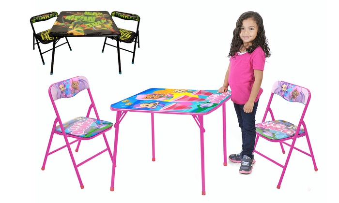 Nickelodeon table and chair set groupon goods for 12 in 1 game table groupon