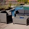 Mason Outdoor Wicker Sofa Set in Gray