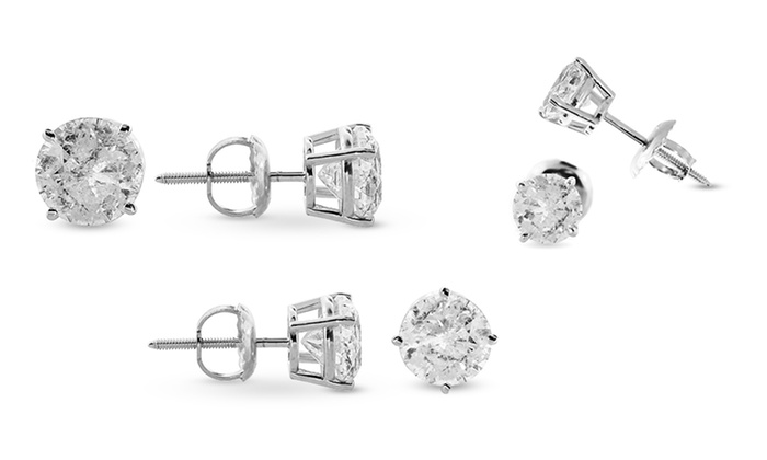 2 4 Cttw Diamond Stud Earrings Groupon Goods