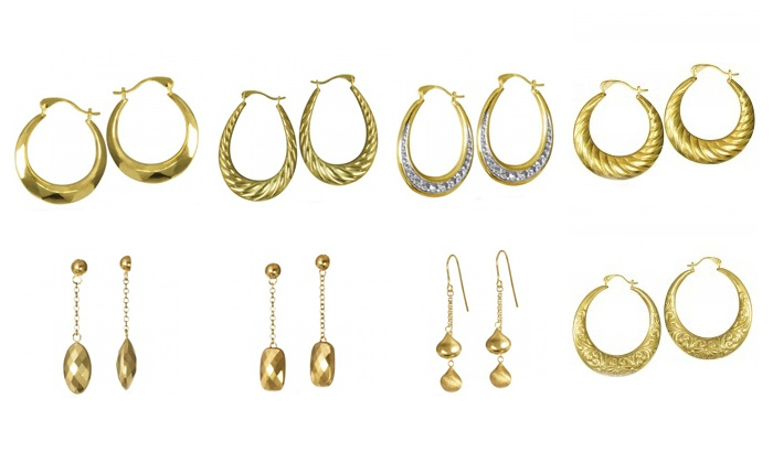 Samuels Jewelers: Earrings from Samuels Jewelers (78% Off). Eight Options Available.