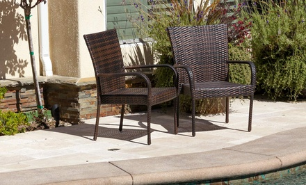 2 Ferndale Outdoor Wicker Chairs