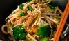 Menu en 3 services avec wok a volonté