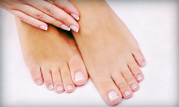 Absolutely You Salon & Spa - Plaza Village Skyview Center: Spa Manicure, Spa Pedicure, or Both at Absolutely You Salon & Spa (Up to 54% Off)