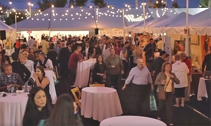 The Taste of the Valley - Westfield Topanga: $45 for Entry for One to the Taste of the Valley Wine and Food Fest on April 21 ($65 Value)