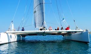 Voile Med: 1/2 journée de navigation en catamaran d'exception pour 1 ou 2 personnes dès 44,90 € avec Voile Med