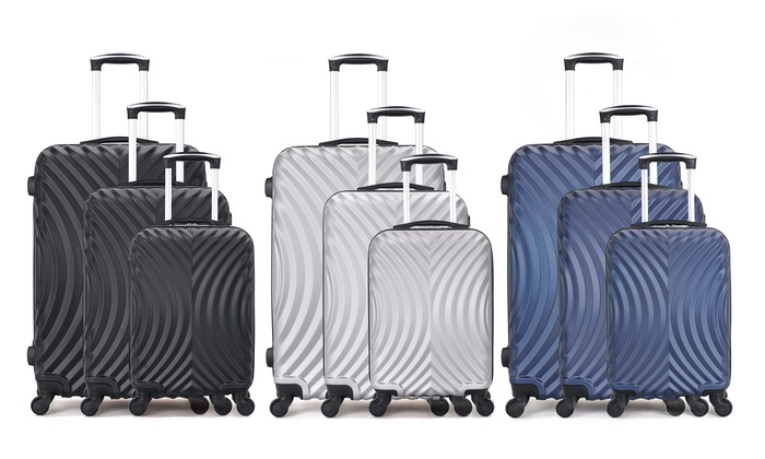 Set of Three Hero ABS Suitcases in Choice of Colour