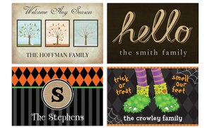 Personalized Planet: One or Two Personalized Doormats from Personalized Planet (Up to 50% Off)