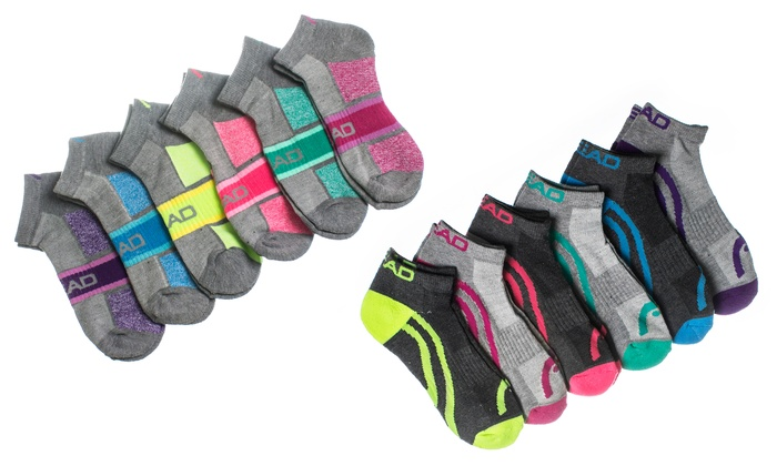 best service 5bfeb 80c4a HEAD Women s Moisture-Wicking Athletic Socks (12-Pack)