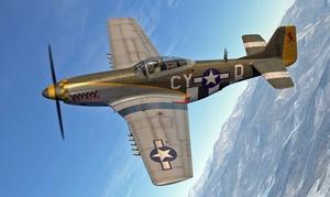 YOURcockpit: 1x od. 3x 20 Min. im Mustang P-51 Jagdflugzeug-Simulator mit VR-Brillebei YOURcockpit (47% sparen*)