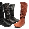 Carrini Faux-Leather Riding Boots