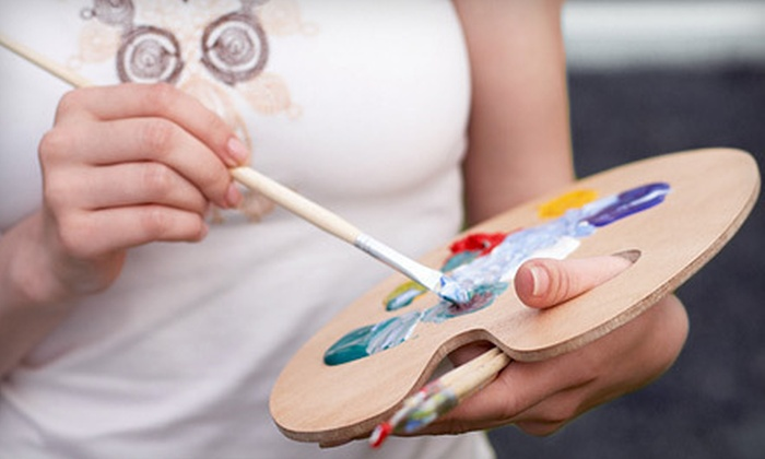 Uncork'd Art - Georgetown: $27.50 for an Adult Acrylic-Painting Class with Glass of Wine at Uncork'd Art ($50 Value)