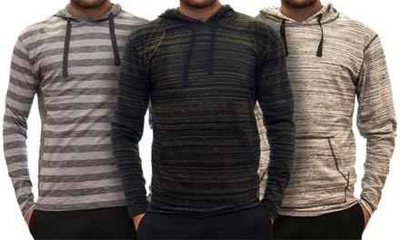 StraightFaded Men's Heathered and Striped Hoodies