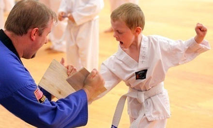 Eight Basic Taekwondo Classes for One, Two, or a Family or Four at U.S. Taekwondo Center (Up to 92% Off)