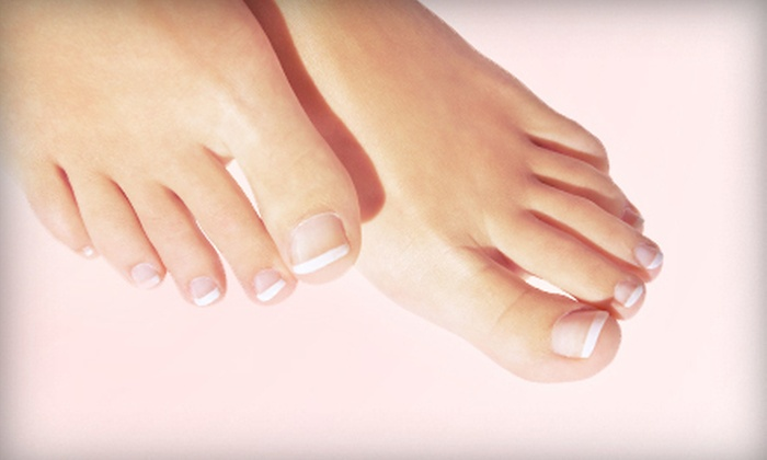 Le's Nails & Spa - Dover: Mani-Pedi with Hotstones and Paraffin or LCN-Gel Permanent French Nails Set at Le's Nails & Spa (56% Off)